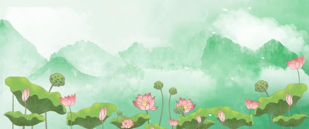 Hoa sen sương mù Zen thương mại điện tử Thương Mại điện Hình Nền