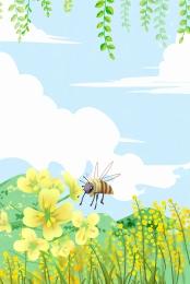 छोटे ताजा मधुमक्खियों बलात्कार जल रंग , जल रंग, पृष्ठभूमि, मधुमक्खी पृष्ठभूमि छवि