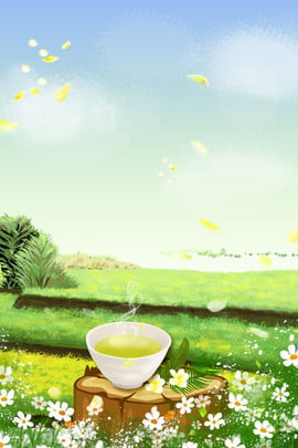 夏日 夏季 夏天 花茶 鮮花 夏季 品茶背景圖庫