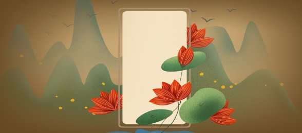 pngtree vintage aesthetic lotus classic banner background image 251710