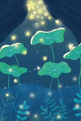 星 蓮の葉 植物 水生植物 , 植物, 水生植物, 漫画 背景画像