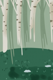 beautiful natural green spring , Illustration, Trees, Background Map ภาพพื้นหลัง