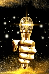 microphone shouting wheat holding microphone golden microphone , Gold, Black Gold, Gold Powder Imagem de fundo