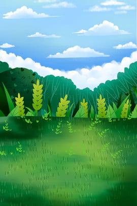 blue sky clouds sky green plants , Green Ecology, Blue Sky, Green Plants ภาพพื้นหลัง