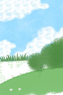 green meadow green plants ecological plants ecological sky , Illustration, Green Plants, Sky ภาพพื้นหลัง