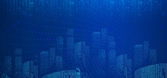 藍色 科技 建築 分層, 城市, 幾何, 建築 背景圖片