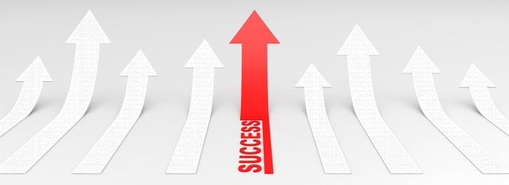 business success arrow banner poster, Business, Technology, Success Background image