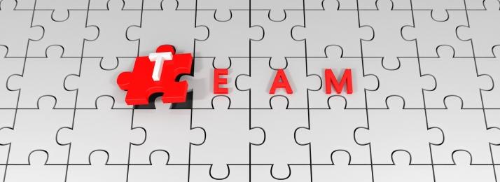business team team jigsaw, Red, Red Team, Business Team Imagem de fundo