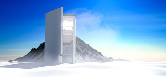 c4d e commerce refrigerator ice and snow world background, C4d, E-commerce, Refrigerator Background image