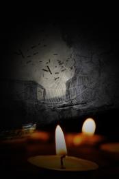 미니멀리즘 촛불 기도 자연 재해 , 포스터, 간단한, 지진 배경 이미지
