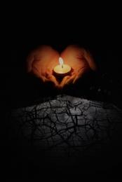 미니멀리즘 촛불 기도 자연 재해 , 길잃은, 간단한, 지진 배경 이미지