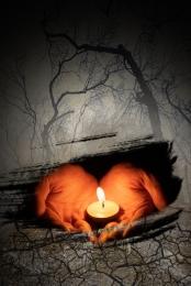 미니멀리즘 촛불 기도 자연 재해 , 기도, 촛불, 가뭄 배경 배경 이미지
