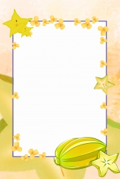 carambola minimalist border background picture , Carambola, Fresh Fruit, Fruit Background image