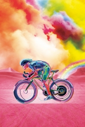 彩色體育 彩色踩自行車 自行車 運動 , 自行車, 彩色體育, 活動 背景圖片