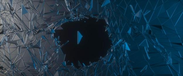 Cool Glass Broken Particle E-commerce Banner, Glass, Broken, Technology, Background image