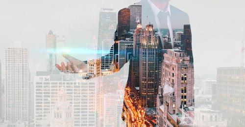 प्रकाश दक्षता शहर दोहरा प्रदर्शन शहर, व्यापार, ई-कॉमर्स, डबल पृष्ठभूमि छवि