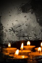미니멀리즘 촛불 기도 자연 재해 , 지진, 재해, 길잃은 배경 이미지