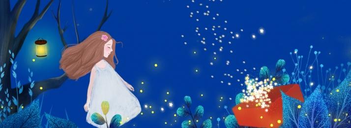 dreamy blue midsummer night girl, Midsummer Night, Blue, Plant Hintergrundbild