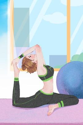 اللياقة البدنية فتاة صغيرة الرياضة اللياقة , اللياقة البدنية, اللياقة, الكرة الزرقاء صور الخلفية