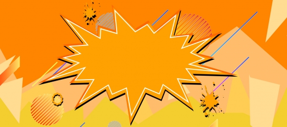 flat promotion orange banner background, Flat, Promotion, Orange Background image