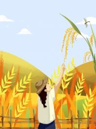 ताजे पीले आम धान के खेत , छोटे छोटे, धान के खेत, के पृष्ठभूमि छवि
