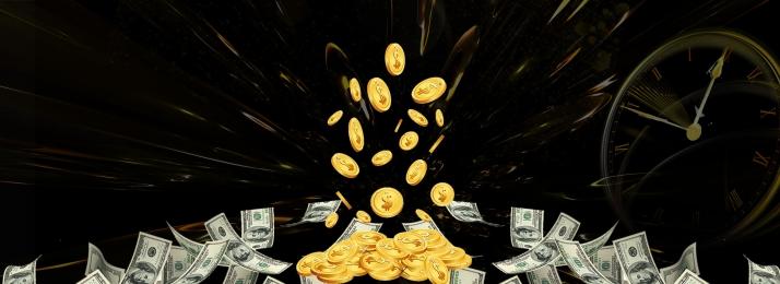financial poster background gold coins coin busy, Festival, Real Estate, Banner Imagem de Fundo