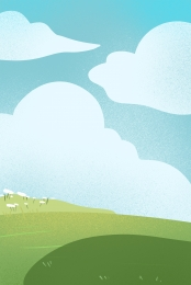 green meadow sky white clouds blue sky and white clouds fashion clouds , Blue Sky, Blue Sky And White Clouds, Free Illustration ภาพพื้นหลัง
