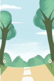 हरे पौधे बड़े पेड़ सजावट , पर्यावरण, संरक्षण, सजावट पृष्ठभूमि छवि