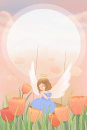 buenos días mayo literario fresco , Flor, Angel, Dias Imagen de fondo