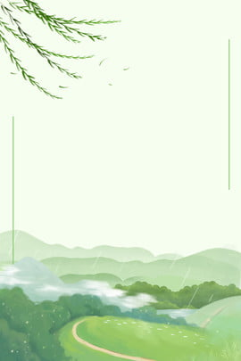 spring spring is coming green branches , Mountains, Minimal, Willows ภาพพื้นหลัง