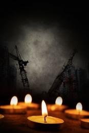 미니멀리즘 촛불 기도 자연 재해 , 재해, 길잃은, 재앙 배경 이미지