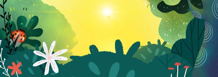 minimalistic cartoon green forest advertising background, Minimalistic, Cartoon, Green Background image