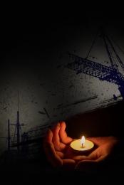 미니멀리즘 촛불 기도 자연 재해 , 간단한, 촛불기도, 미니멀리즘 배경 이미지