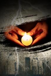 미니멀리즘 촛불 기도 자연 재해 , 배경, 촛불, 촛불기도 배경 이미지
