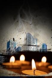 미니멀리즘 촛불 기도 자연 재해 , 촛불기도, 지진, 자연 배경 이미지