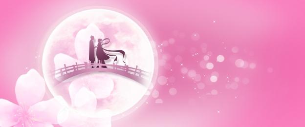 qixi祭り 7月7日 qiqiao祭り バレンタインデー, バックグラウンド, 七夕祭、羊飼いとウィーバーガールブリッジ、ポスター, Cowherd And Weaver Girl 背景画像