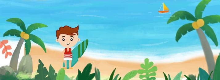 summer surf theme background, Flat, Minimalist, Literary Background image
