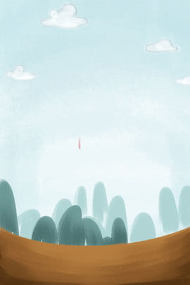 sky clouds green forest plants land plants , White, Sky Clouds, Free Illustration ภาพพื้นหลัง