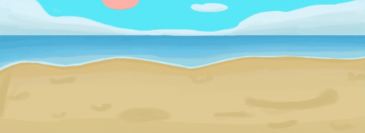 yellow beach and blue sky free illustration, Sky, Blue Clouds, Yellow Sand Beach Background image