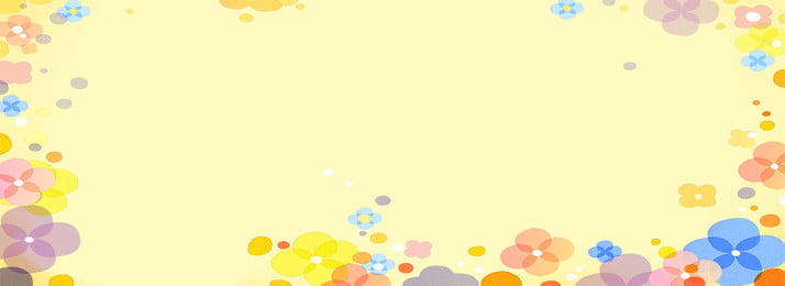 yellow fashion background free clipart, Fresh Flowers, Beautiful Petals, Cartoon Patterns Background image