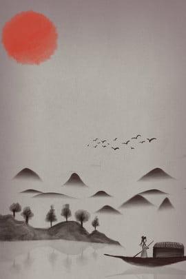 ज़ेन ग्रे चीनी शैली ग्रे पृष्ठभूमि , परिदृश्य, ज़ेन, न्यूनतर पृष्ठभूमि पृष्ठभूमि छवि