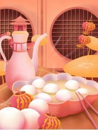 lantern lantern festival nền yuanxiao hạnh phúc bánh bao gạo , Xuân, Yuanxiao, Liệu Ảnh nền