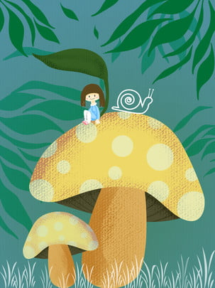 andersens fairy tale fairy tale background thumbelina forest , Thumbelina, Mushroom, Fairytale Фоновый рисунок