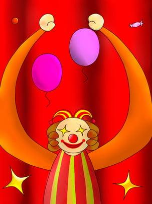 april fools day hand drawn clown gift , Background, Gift, Clown Imagem de fundo