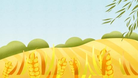 autumn golden wheat field advertising background, Advertising Background, Wheat Ears, Wheat Field Background image