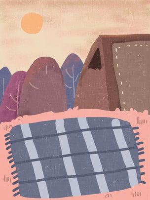 插畫背景 抱枕背景 居家背景 溫馨背景 , 居家生活插畫, 唯美春季居家生活背景, 室內插畫 背景圖片