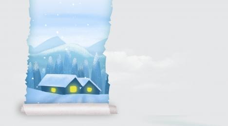 winter solstice background snow winter winter solstice, Traditional Solar Terms, Snow, Winter Solstice Imagem de fundo