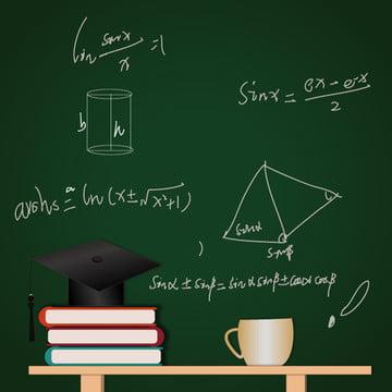 blackboard background doctor hat book desk , Material, Vector Material, Blackboard Background Imagem de fundo