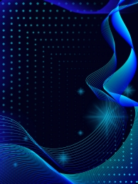 blue tech curve strip gradient spot background , Technology, Simple, Gradient Background Background image