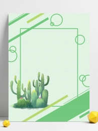Cactus small fresh green background material , Cactus, Green, Small Fresh Background image